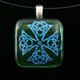 fused dichroic glass jewelry celtic necklaces
