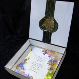 custom keepsake box for wedding, bar mitzvah bat mitzvah, or special occasion
